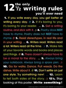 "This is a very witty and cute look at the ""only 12 rules of writing you will ever need"""